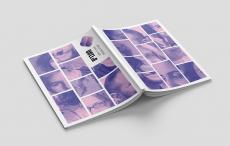 חוברת בצבע סגול לבן עם לוגו מעברים